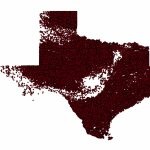 Texas Oil Well Distribution Map, 2013 : Texas   Texas Oil Well Map