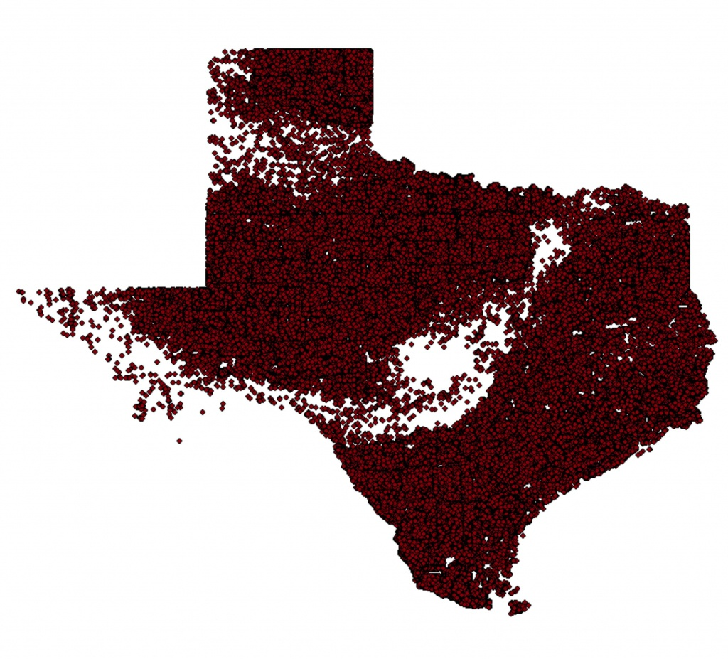 Texas Oil Well Distribution Map, 2013 : Texas - Texas Oil Well Map