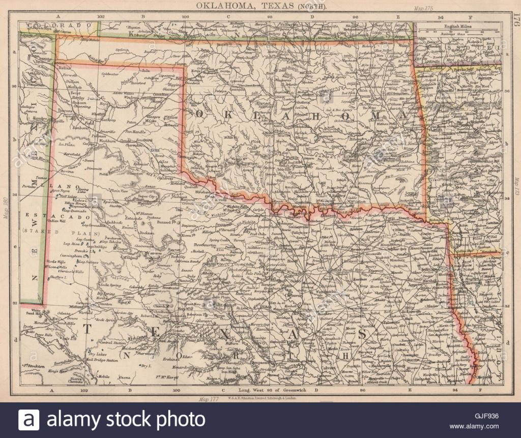 Texas Oklahoma Map Stock Photos & Texas Oklahoma Map Stock Images - Map Of Oklahoma And Texas Together