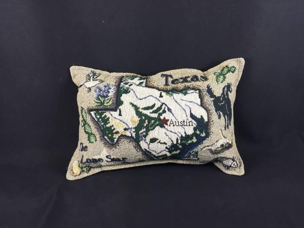 """Texas Pillow - Texas Map 9X12"""" - Lone Star Legacies - Texas Map Pillow"""