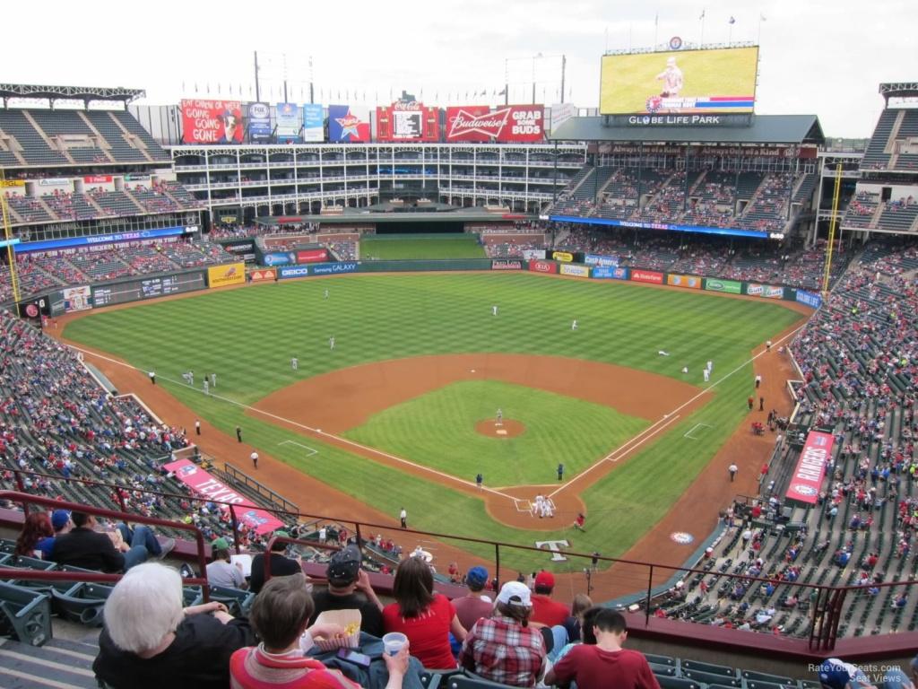 Texas Rangers Globe Life Park Seating Chart & Interactive Map - Texas Rangers Ballpark Map