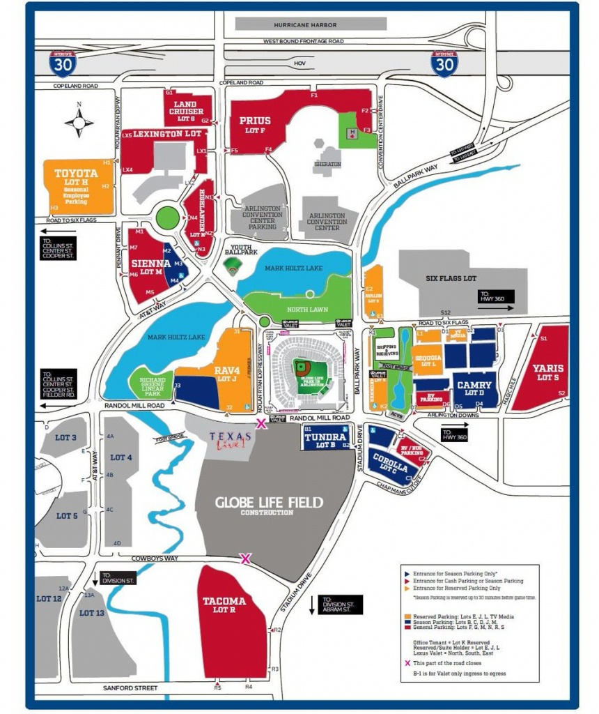 """Texas Rangers On Twitter: """"knowledge Is Power. Full #openingday - Texas Rangers Parking Map 2018"""