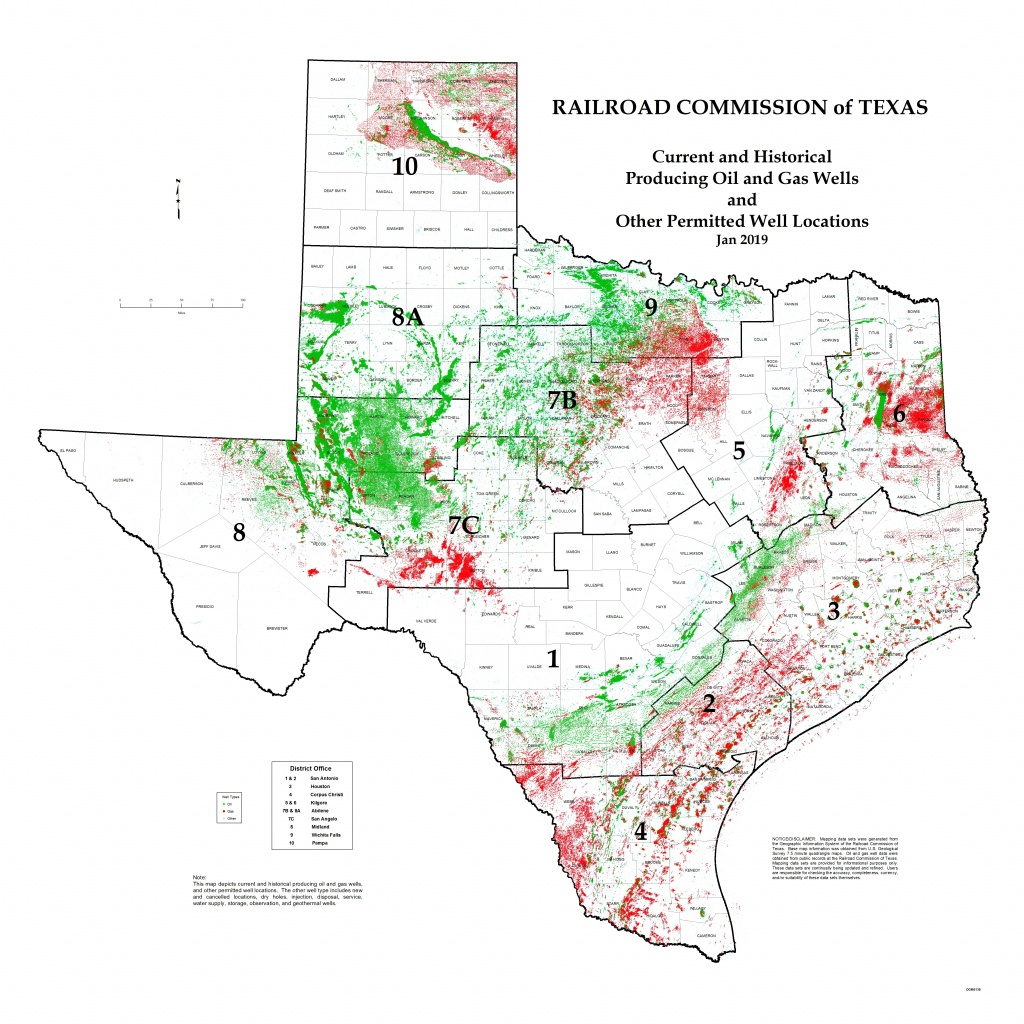 Texas Rrc - Special Map Products Available For Purchase - Texas Oil Well Map