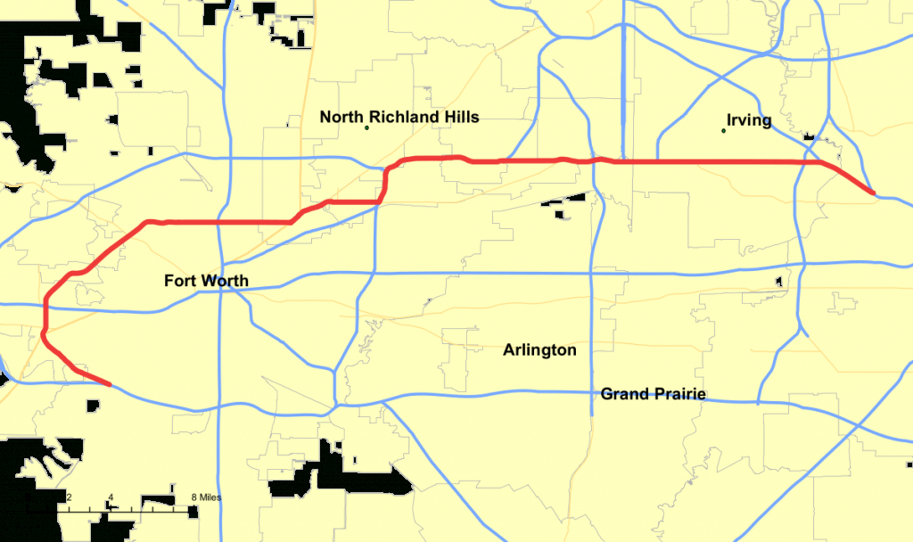 Texas State Highway 183 - Wikipedia - Texas Highway 183 Map