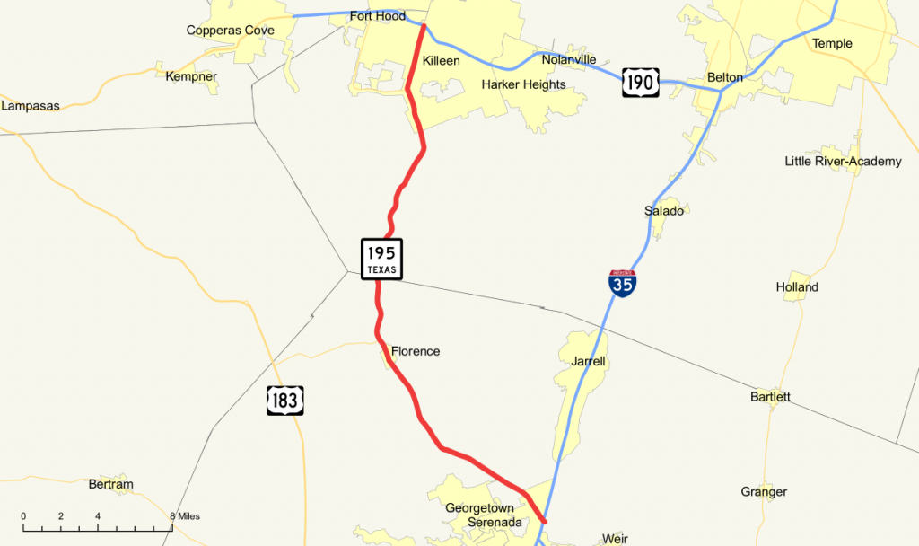 Texas State Highway 195 - Wikipedia - Fort Hood Texas Map