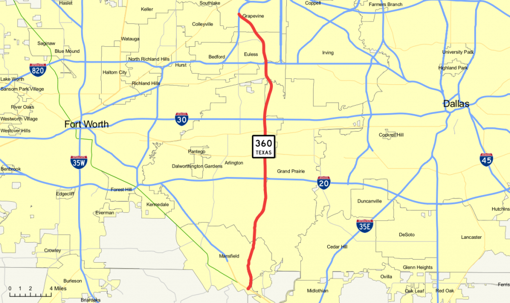 Texas State Highway 360 - Wikipedia - Texas Highway 183 Map