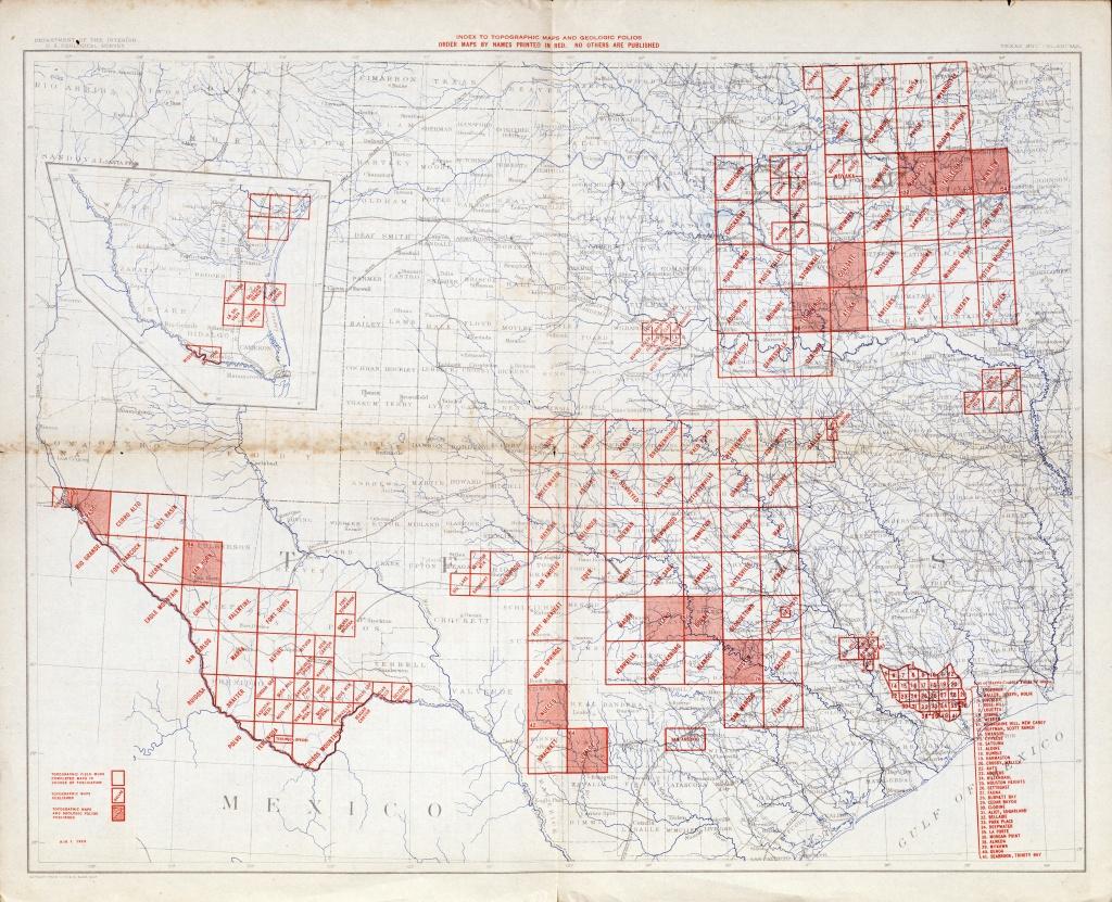 Texas Topographic Maps - Perry-Castañeda Map Collection - Ut Library - Alba Texas Map