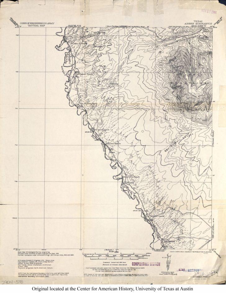 Texas Elevation Map