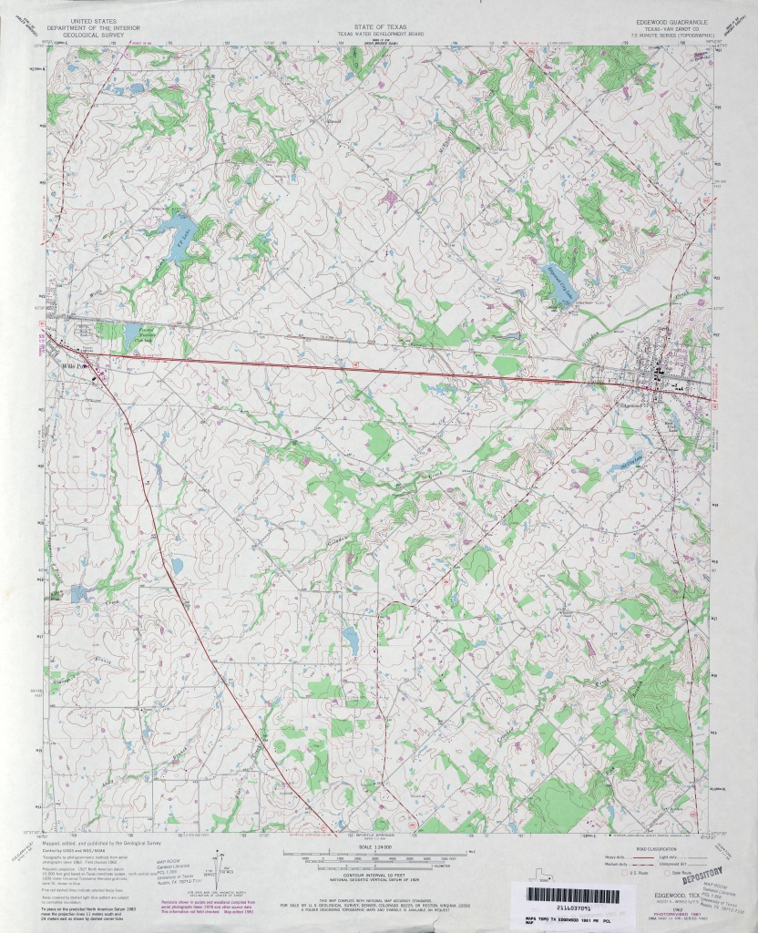 Texas Topographic Maps - Perry-Castañeda Map Collection - Ut Library - Van Zandt County Texas Map
