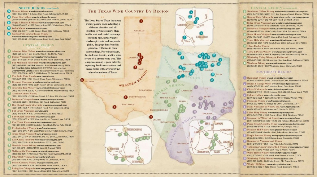 Texas Wine Country Map - Cherokee Texas • Mappery - Texas Wine Trail Map