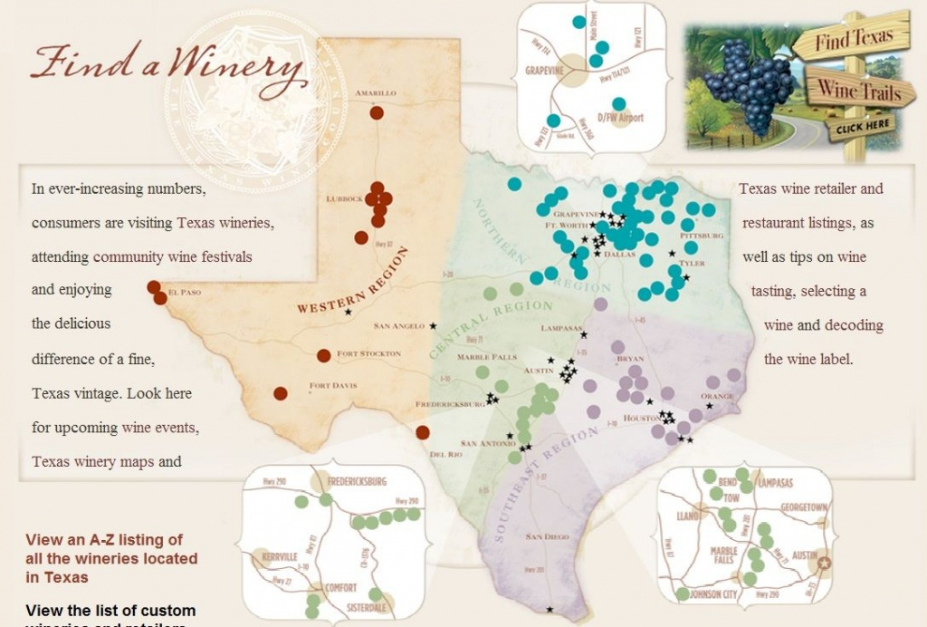 Texas Wine Regions Map | Wine Regions In 2019 | Wine, Wines, Texas - Texas Winery Map