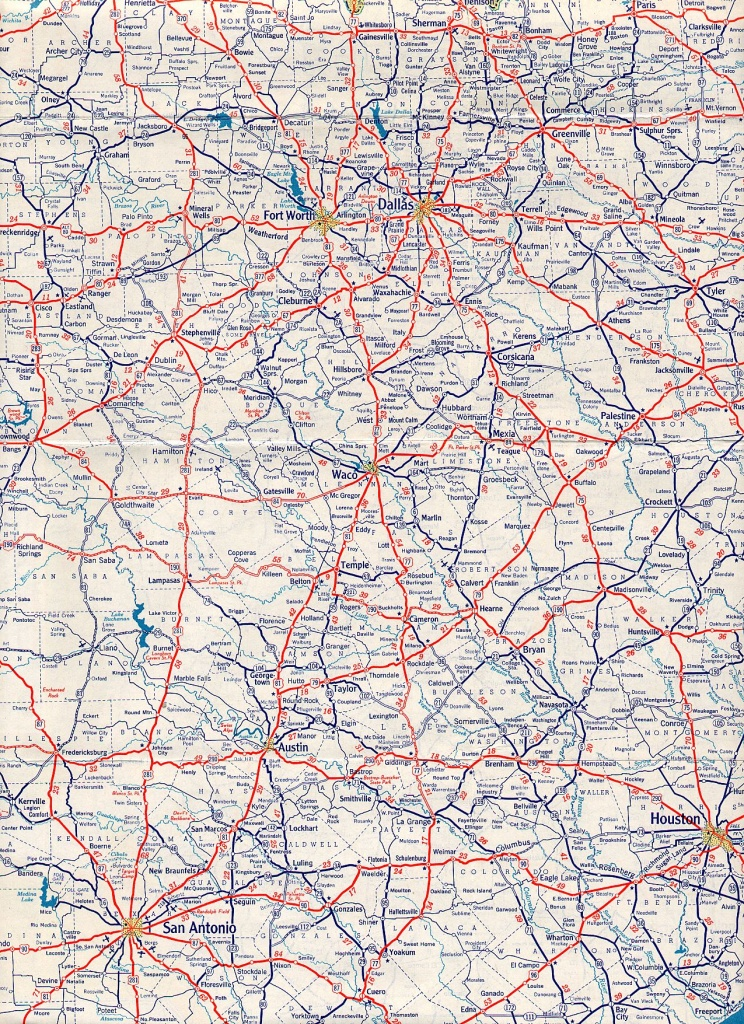 Texasfreeway > Statewide > Historic Information > Old Road Maps - Dallas Texas Highway Map