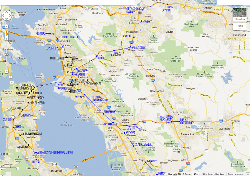 The Bart Map, To Scale – Flyga Natten - Printable Bart Map