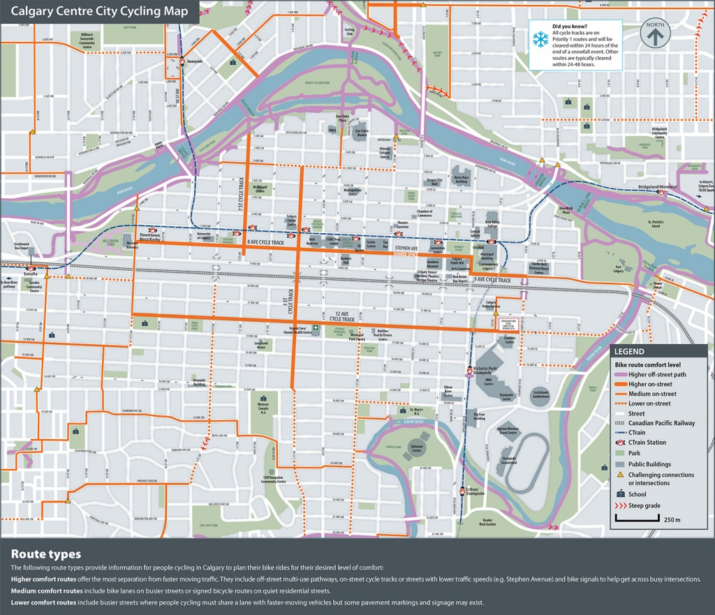 The City Of Calgary - Cycling And Walking Route Maps - Printable Map Of Calgary