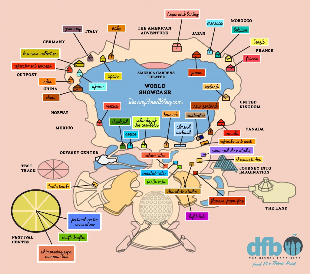 The Disney Food Blog 2018 Epcot Food And Wine Festival Map! | The - Epcot Park Map Printable