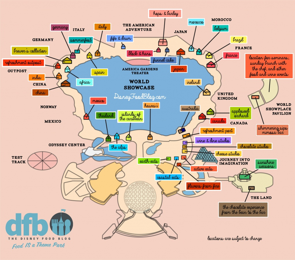 The Disney Food Blog Exclusive 2019 Epcot Food And Wine Festival Map - Printable Map Of Epcot 2015