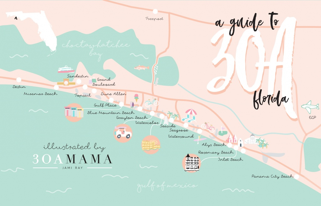 The Essential Guide To 30A - From A Local Mom - 30A Mama™   Jami - Inlet Beach Florida Map