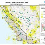 The Great California Shakeout   Central Coast Area   Usgs Recent Earthquake Map California