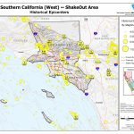 The Great California Shakeout   Southern California Coast Area   Southern California Earthquake Map