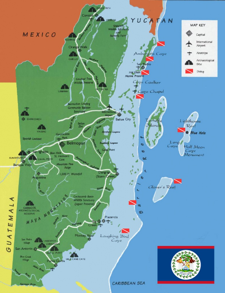 The Great Collection Of Belize Maps - Printable Map Of Belize