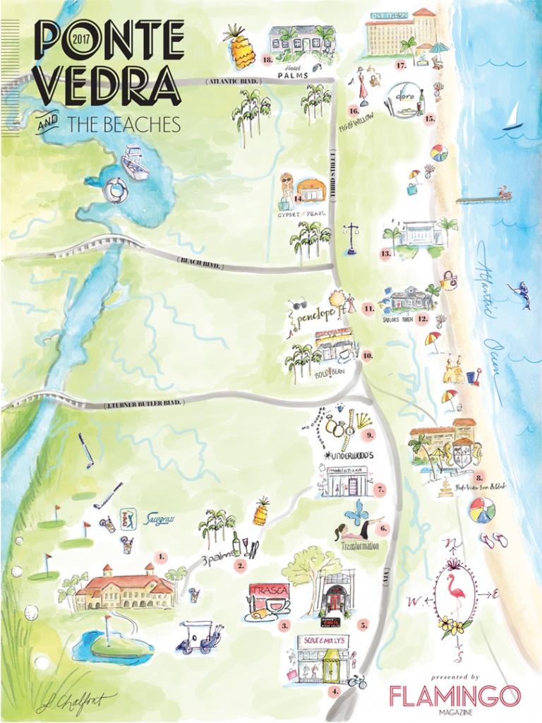 The Local's Guide To Ponte Vedra & The Beaches   Flamingo Magazine - Ponte Vedra Florida Map
