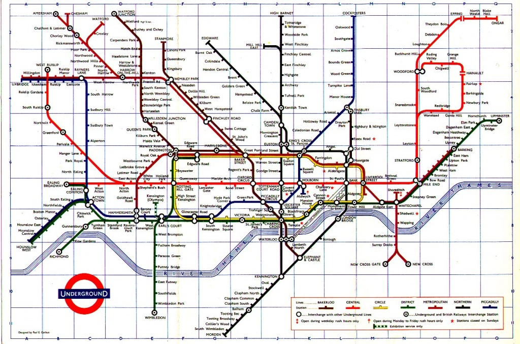 The London Tube Map Archive - Printable London Tube Map Pdf