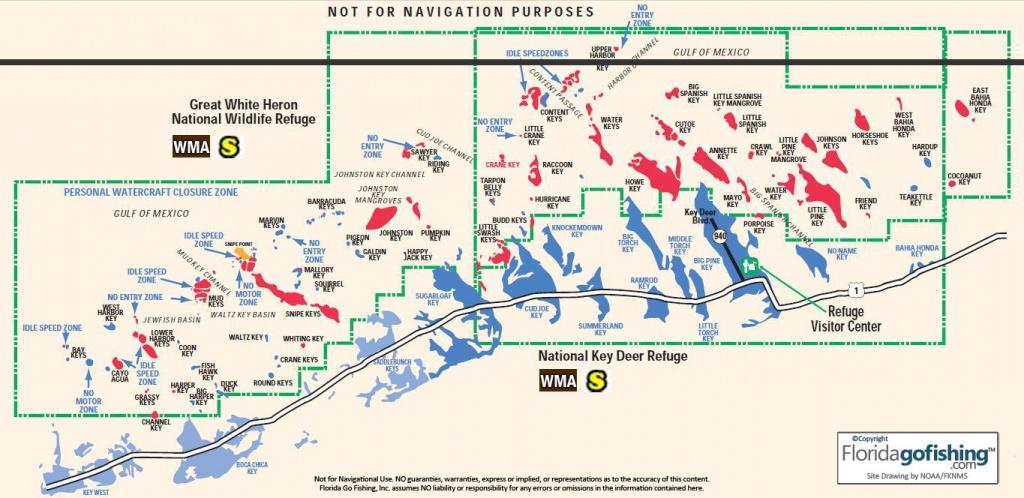 The Middle Keys Monroe County Gps Coordinates Reefs Shipwrecks - Cayo Marathon Florida Map