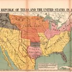 The Republic Of Texas And The United States In 1837 | Library Of   Republic Of Texas Map