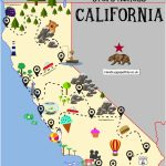 The Ultimate Road Trip Map Of Places To Visit In California   Hand   California Destinations Map