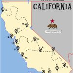 The Ultimate Road Trip Map Of Places To Visit In California   Hand   Northern California Road Trip Map