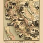 The Unique Map Of California 1888   Vintage Map, Antique Map   Antique Map Of California