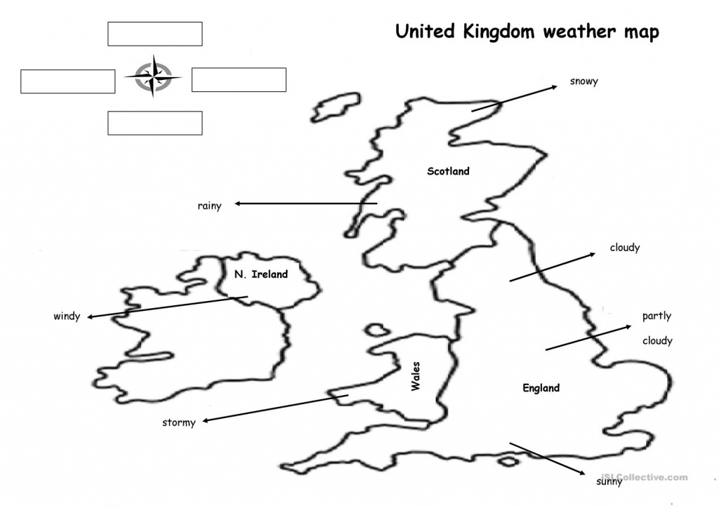 The Weather Map Worksheet - Free Esl Printable Worksheets Made - Printable Weather Map
