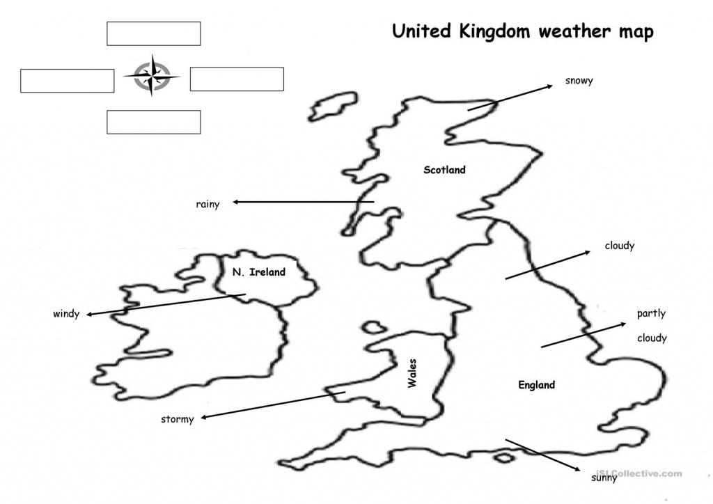 The Weather Map Worksheet - Free Esl Printable Worksheets Made - Weather Map Worksheets Printable