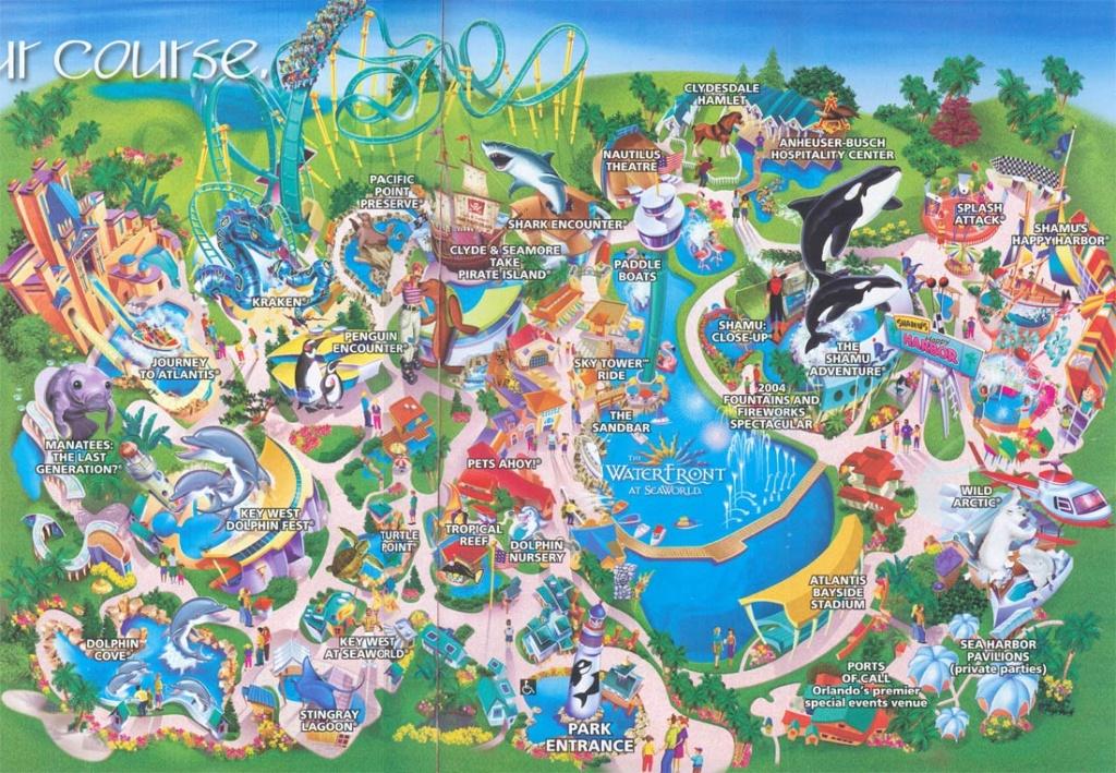 Theme Park Brochures Sea World Orlando - Theme Park Brochures - Printable Map Of Sea World Orlando