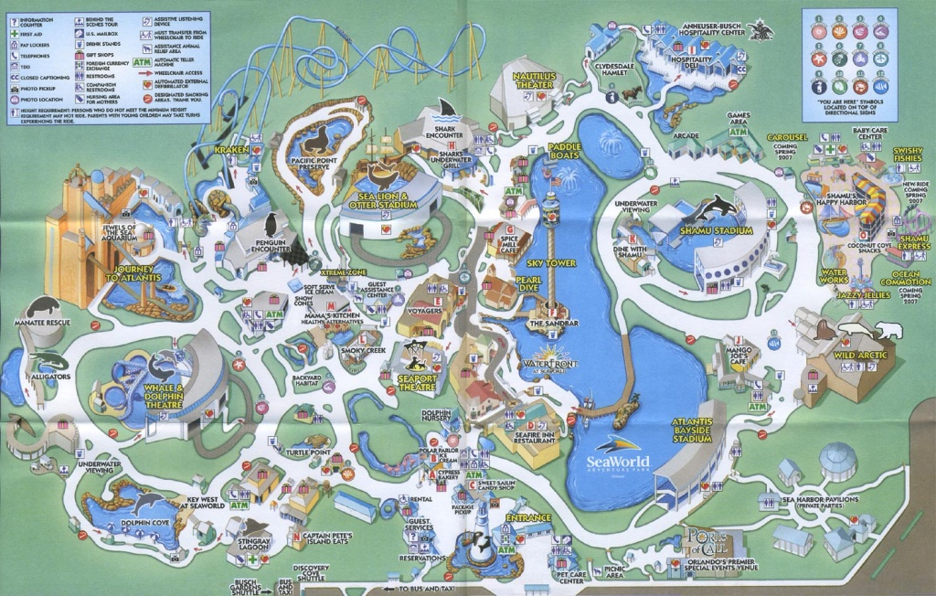 Theme Park Brochures Sea World Orlando - Theme Park Brochures - Sea World Florida Map