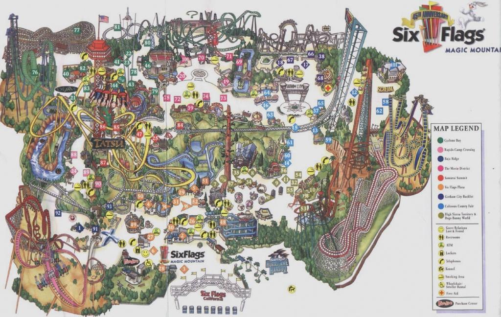 Theme Park Brochures Six Flags Magic Mountain - Theme Park Brochures - Six Flags Map California 2018