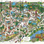 Theme Park Brochures Six Flags Over Texas   Theme Park Brochures   Six Flags Over Texas Map