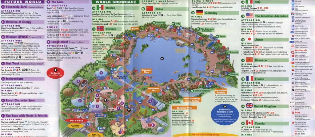 Theme Park Brochures Walt Disney World Epcot - Theme Park Brochures - Printable Map Of Epcot 2015