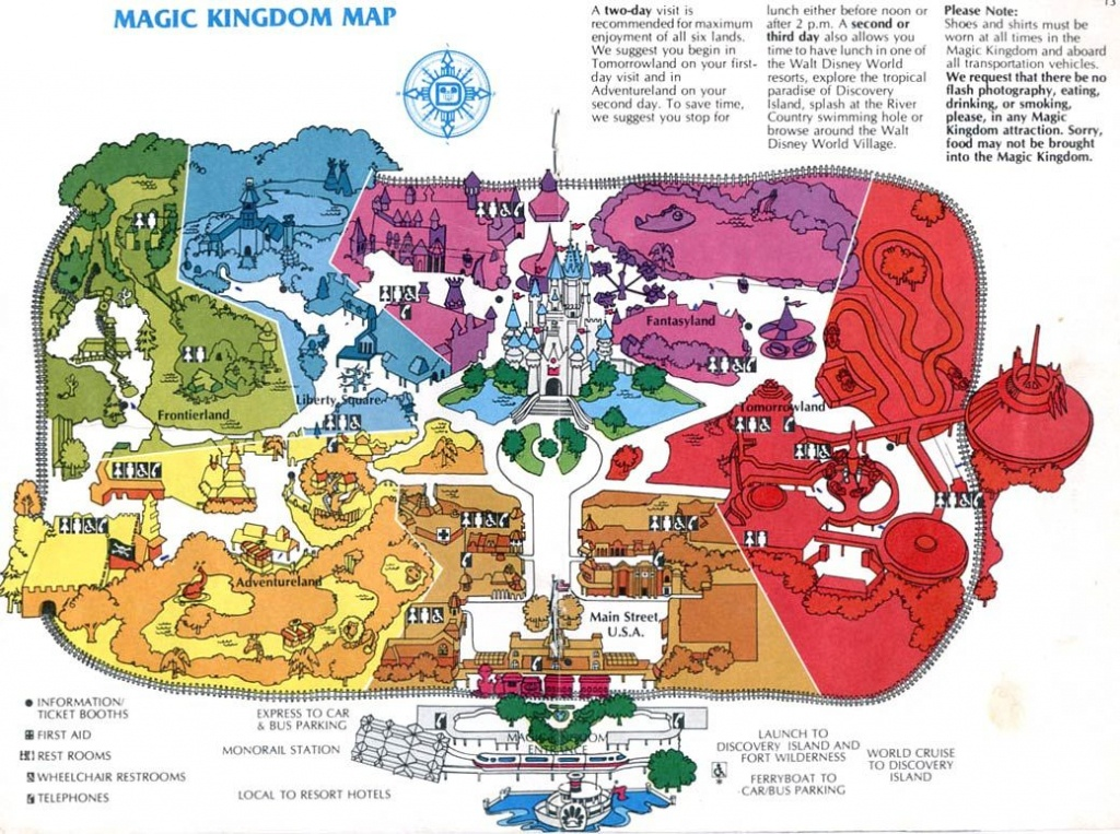 Theme Park Maps – Over The Years   Places I've Been   Disney Map - Disney Parks Florida Map