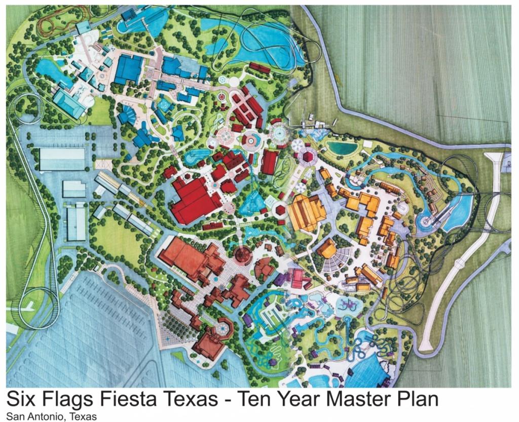 Theme Park Review • Shane's Amusement Attic - Fiesta Texas Map
