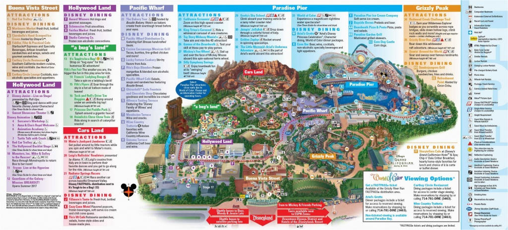 Theme Parks In California Map | Secretmuseum - California Adventure Map 2017 Pdf