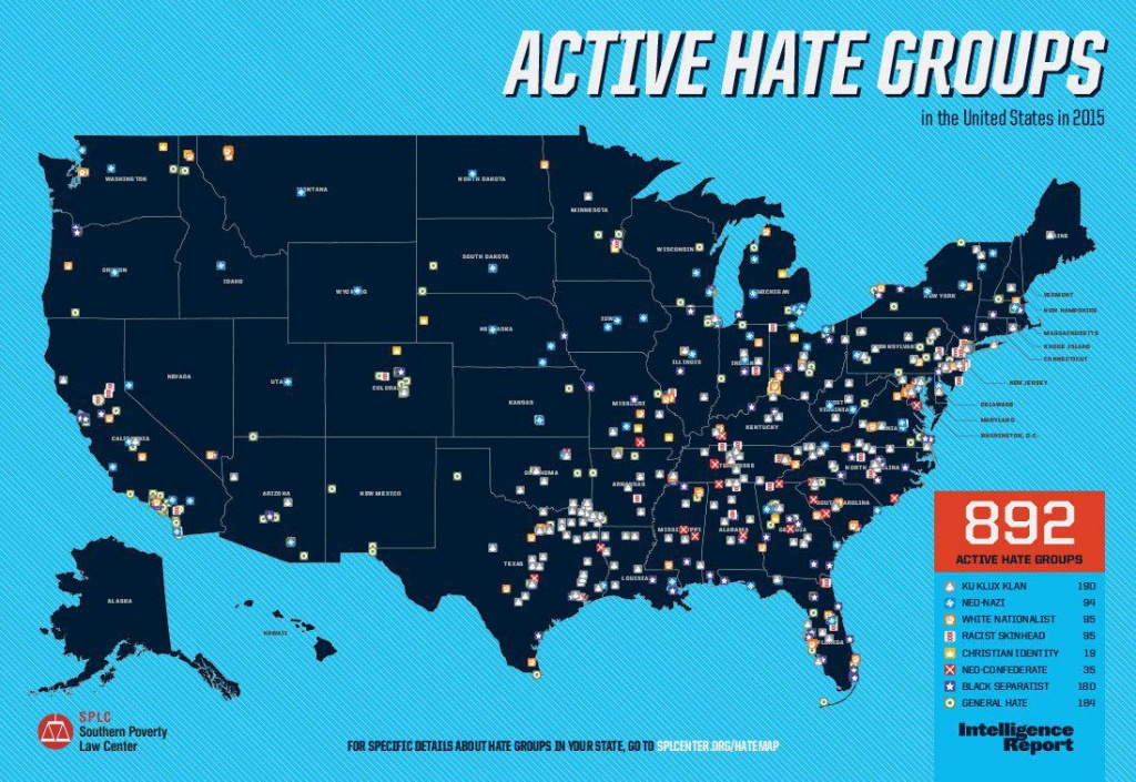 There Are 84 Active Hate Groups In Texas, The Most Of Any State - Map Of Hate Groups In Texas