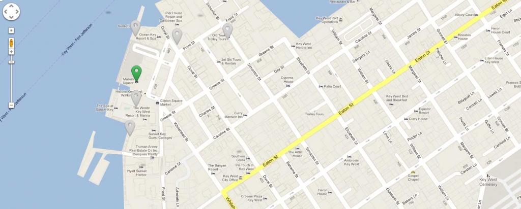 Things To Do In Key West   What To Do In Key Westmallory Square - Key West Street Map Printable
