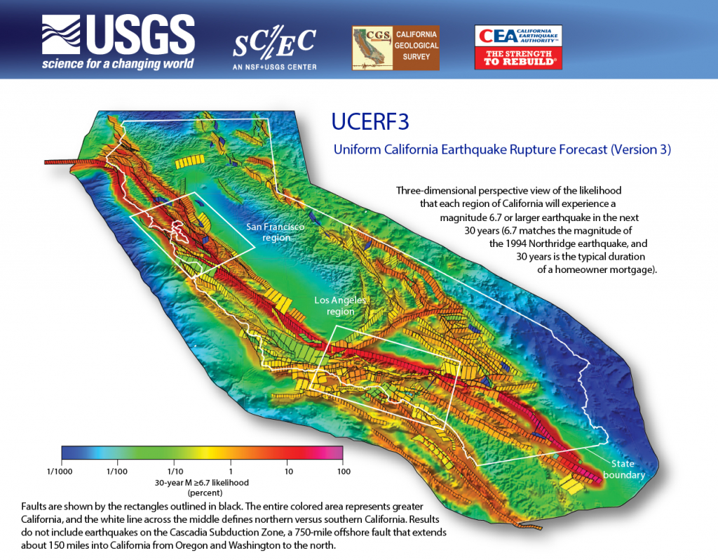 Third Uniform California Earthquake Rupture Forecast (Ucerf3 - Usgs Recent Earthquake Map California