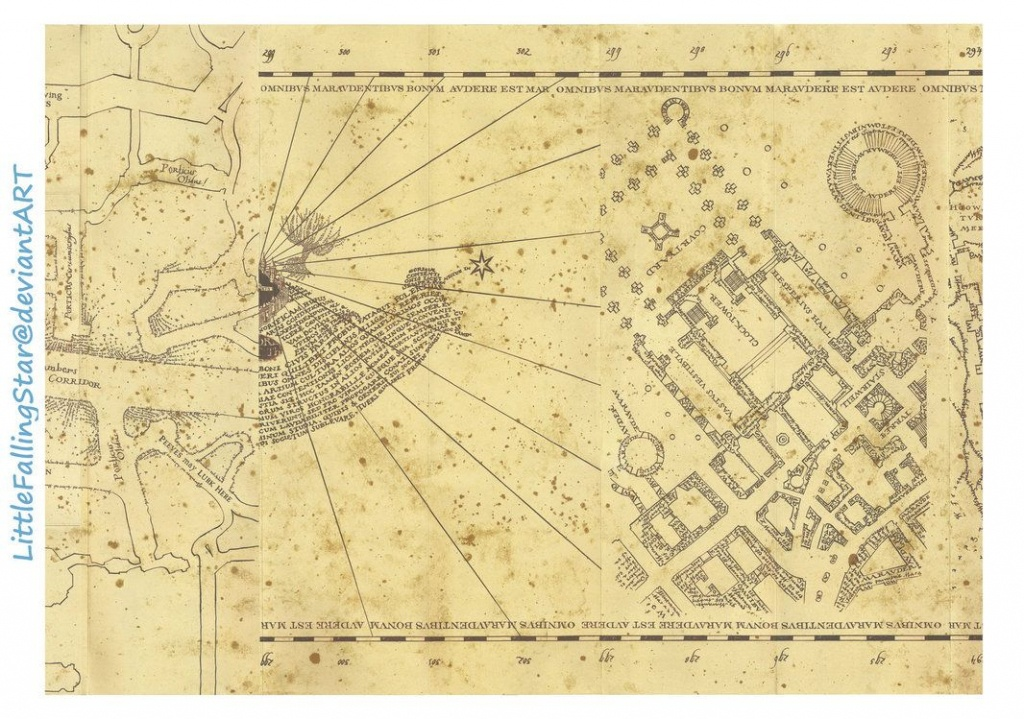 This Is A Copy Of The Marauders Map, 36 Scans Stitched Together In - Marauders Map Printable