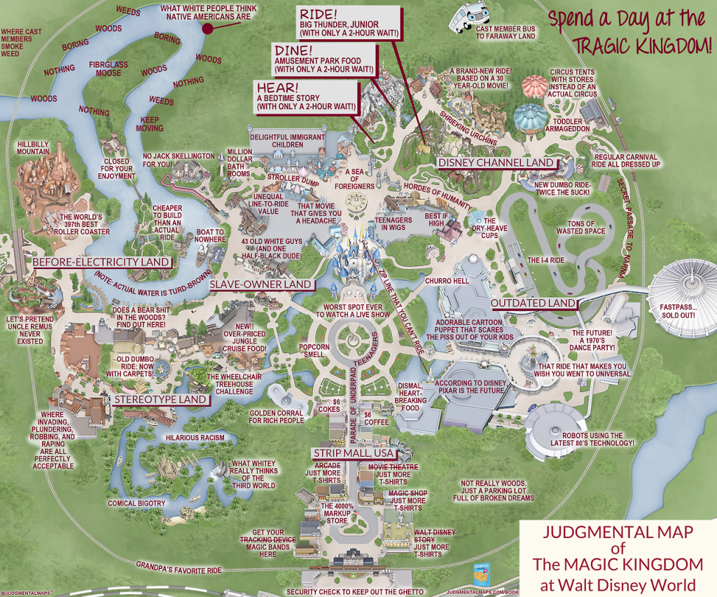 This 'judgmental Map' Of Magic Kingdom Is Pretty Accurate | Blogs - Disney World Florida Map 2018