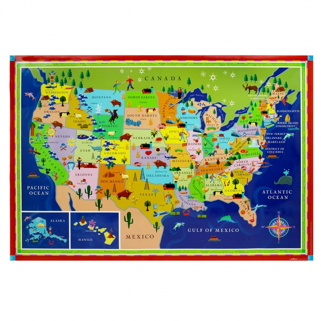 This Land Is Your Land Kids' Map | Children's Usa Wall Map - California Map For Kids