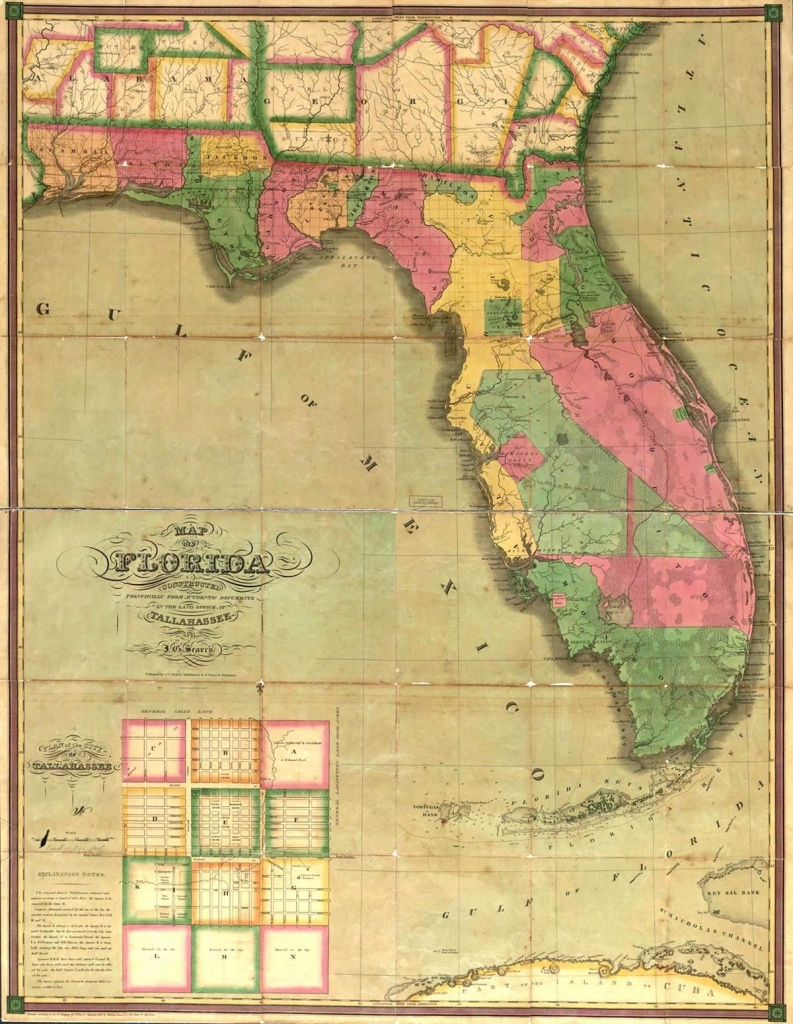 This Map Is Of Florida In The 1800's. | St. Augustine Primary Source - Old Florida Maps For Sale