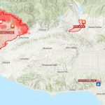 This Map Shows How Big And Far Apart The 4 Major Wildfires Are In   Fires In Southern California Today Map