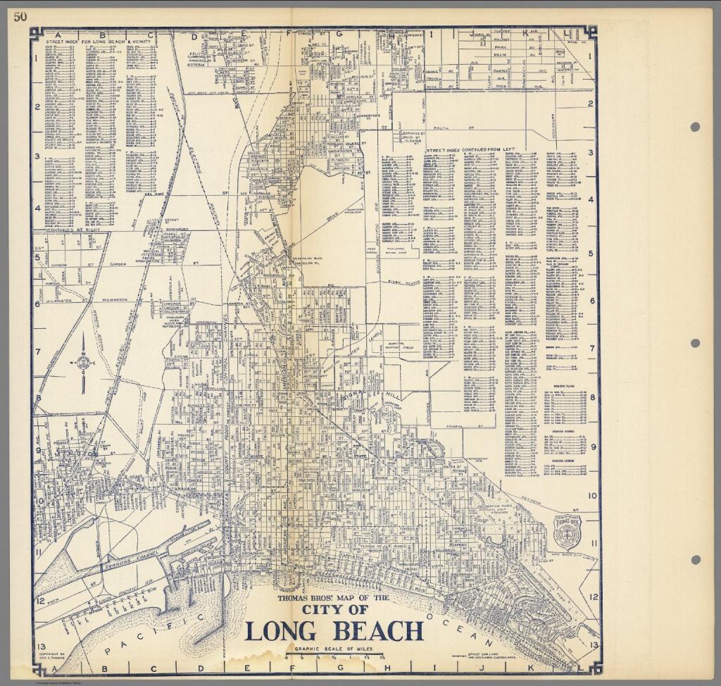Thomas Bros'. Map Of The City Of Long Beach, California. - David - Printable Map Of Long Beach Ca